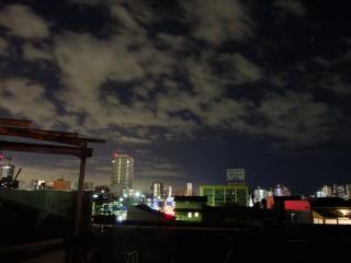 夜更けの空